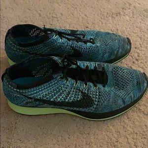 Nike Flyknit racer blue lagoon colorway